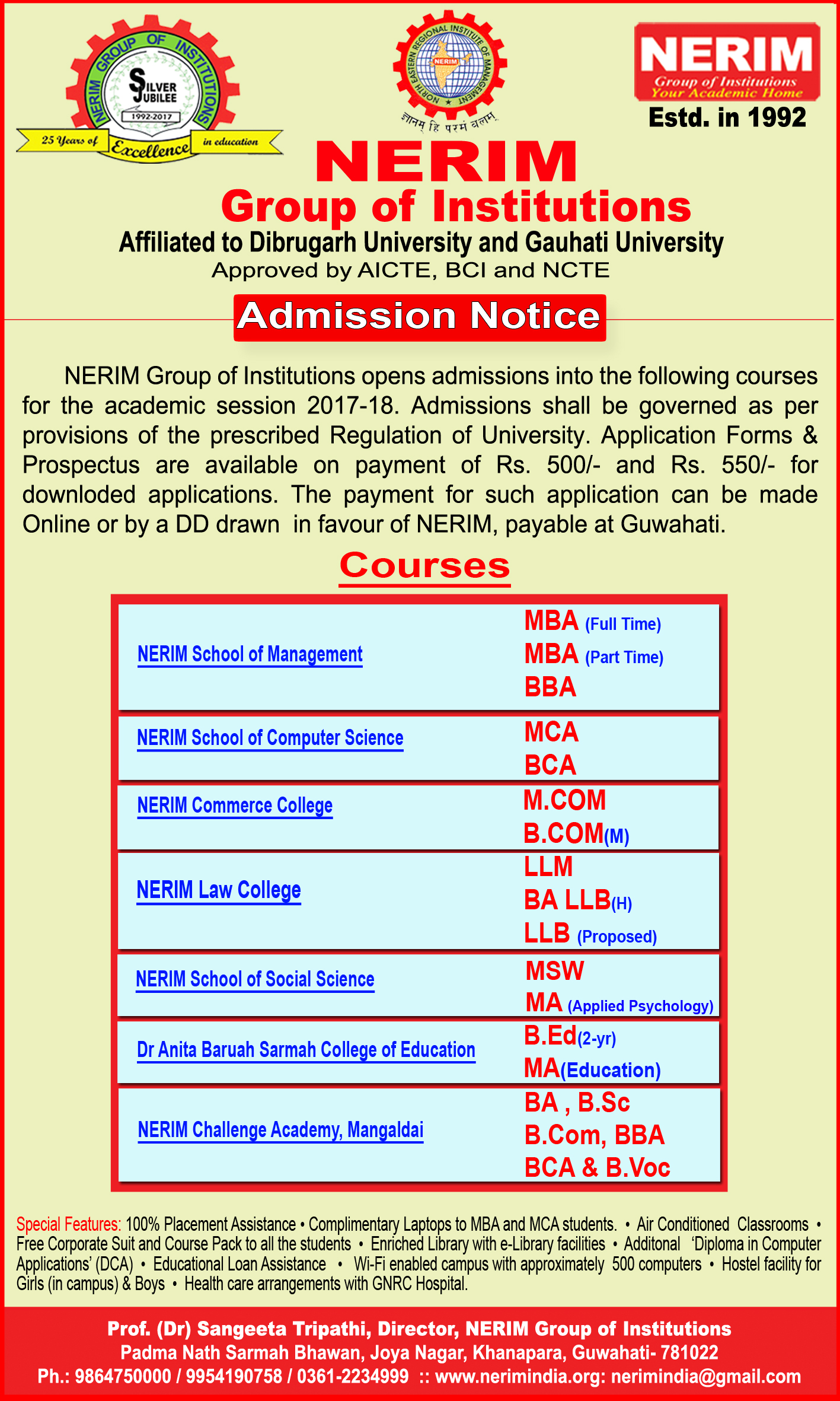 Welcome to NERIM (North Eastern Regional Institute of Management